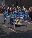 Team 10 knaresborough bed race 2015 Stock Photography