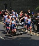 Team 6 knaresborough bed race 2015 Royalty Free Stock Image