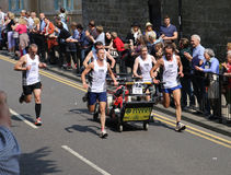 Team 12 in the knaresborough bed race 2015 Stock Image