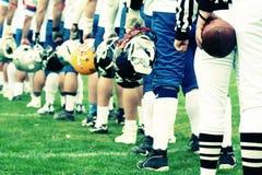 TEAM - Konzept des amerikanischen Fußballs stockfoto