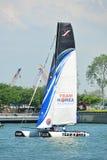 Team Korea pratiquant à la série de navigation extrême Singapour 2013 Images stock
