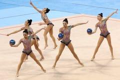 Team Korea Rhythmic Gymnastics Stock Photography