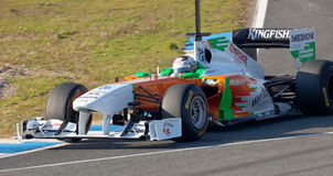 Team-Kraft Indien F1, Adrian Sutil, 2011 Stockfoto