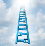 Team Ladder. Of opportunity and group support success as a staircase made of business people icons working together as recruitment possibilities to move high up royalty free illustration