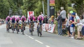 Team Lampre-Merida - Team Time Trial 2015 Royaltyfri Foto