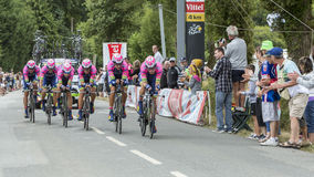 Team Lampre-Merida - Team Time Trial 2015 Royalty Free Stock Photo