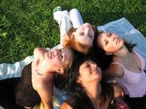 Team a las muchachas Imagen de archivo libre de regalías