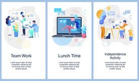 Team le travail Temps de déjeuner L'indépendance Activiti illustration libre de droits