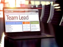 Team Lead Job Vacancy 3d royaltyfri foto