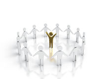 Team leader. Abstract image of team leader surrounded by peaople Stock Images