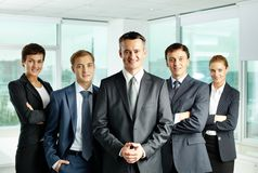 Team and leader royalty free stock photography