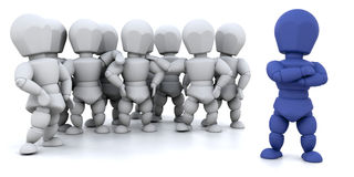 Team leader. 3D render showing a group of people with a team leader Stock Images