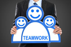 Team leader. Company boss. Teamwork Stock Images