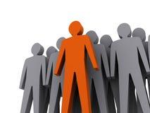 Team leader. Company boss. Teamwork. Stock Photo