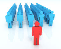 Team Leader-concept royalty-vrije illustratie