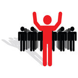 Team and leader concept Royalty Free Stock Images