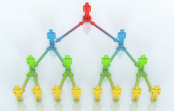 Team Leader concept. 3d render Team Leader concept (close-up Stock Photography