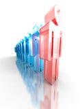Team Leader Concept Glass Icon Lavoro di squadra della società Fotografie Stock