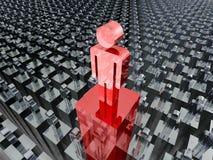 Team Leader Concept People Icon Individualidade bem sucedida ilustração do vetor