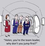 Team leader. Helen, you are the team leader why don't you jump first Stock Photography