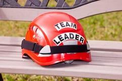 Team Leader Helmet. Red team leader helmet Royalty Free Stock Images