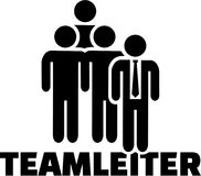 Team Leader icon with german job title Stock Photos