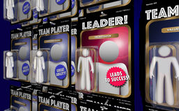 Team Leader Motivator Manager Action Figure. 3d Illustration Stock Photo