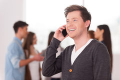 Team leader on the phone. Royalty Free Stock Image