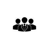 Team Leader solid icon, people, business Stock Images