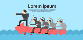 Team Leader Swim On Arrow-Geschäftsleute Chef-Teamwork Concept lizenzfreie abbildung