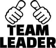Team Leader thumbs. T-Shirts design. Royalty Free Stock Images