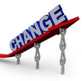 Team Lifts Word Change da trasformare e riuscire Immagine Stock Libera da Diritti