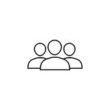 Team line icon. Seo and development, people sign, a linear pattern on a white background, eps 10 Stock Image