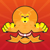 Team Logo Battle Claws Lion Symbol-Sportmascotte Royalty-vrije Stock Foto