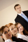Team looking at camera in the office Royalty Free Stock Photography