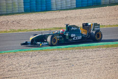 Team-Lotos F1, Jarno Trulli, 2011 lizenzfreie stockbilder