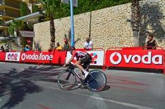 Team Lotto Soudal Rider On TT cykelLa Vuelta Royaltyfri Bild