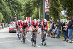 Team Lotto-Soudal - Team Time Trial 2015 Stock Photography