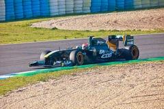 Team Lotus F1, Jarno Trulli, 2011 lizenzfreie stockfotos