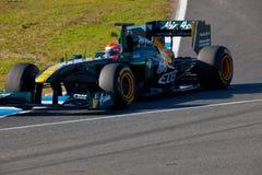 Team Lotus F1, Jarno Trulli, 2011 lizenzfreie stockbilder