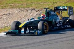 Team Lotus F1, Jarno Trulli, 2011 Royalty Free Stock Images