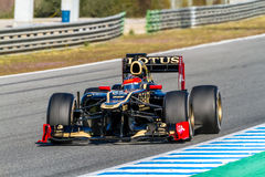 Team Lotus Renault F1, Romain Grosjean, 2012 Lizenzfreies Stockfoto