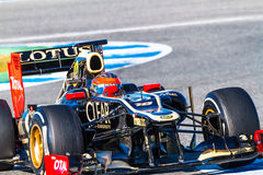 Team Lotus Renault F1, Romain Grosjean, 2012 Stockbild