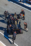 Team Lotus Renault F1, Romain Grosjean, 2012 Foto de Stock Royalty Free