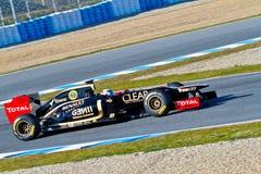 Team Lotus Renault F1, Kimi Raikkonen, 2012 Royalty Free Stock Images