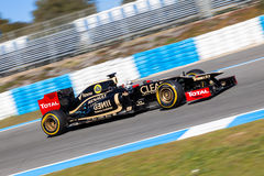 Team Lotus Renault F1, Kimi Raikkonen, 2012 Royalty Free Stock Image