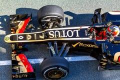 Team Lotus Renault F1, Kimi Raikkonen, 2013 Stockbilder