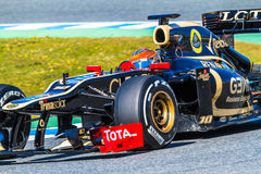 Team Lotus Renault F1, Romain Grosjean, 2012 Royalty Free Stock Photos