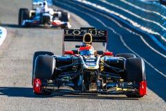 Team Lotus Renault F1, Romain Grosjean, 2012 Royalty Free Stock Images