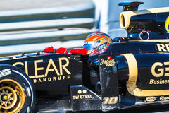 Team Lotus Renault F1, Romain Grosjean, 2012 Royalty Free Stock Image